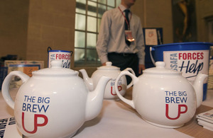 The Big Brew Up event held in MOD's Main Building, London