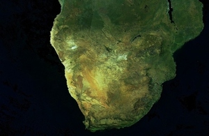 South Africa pictured from space.