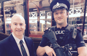 T/Ch Supt Mick Vance (left) with PC Barry Owen