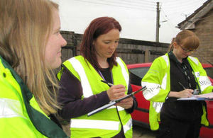 Environment Agency, county council, and Boston Borough Council officers carried out a visit to crack down on illegal vehicle dismantlers