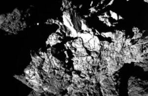 The surface of comet 67P.