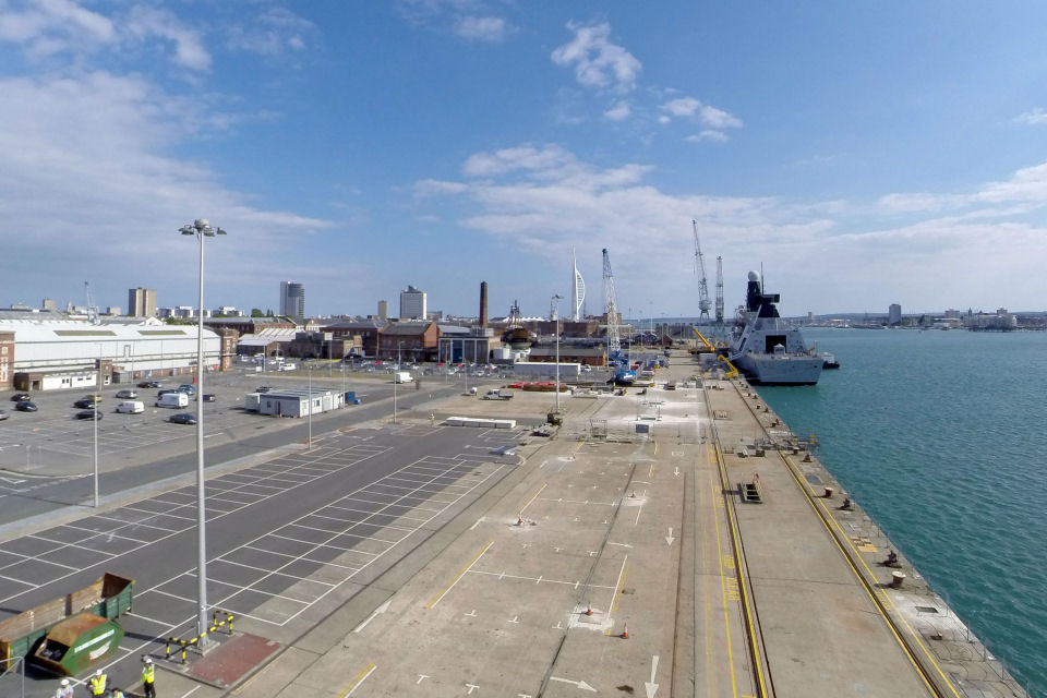 Middle Slip Jetty at HMNB Portsmouth [Picture copyright: VolkerStevin]