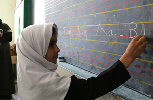 Student at Mehri Herawi High School