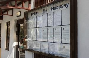 British Embassy Chisinau information board