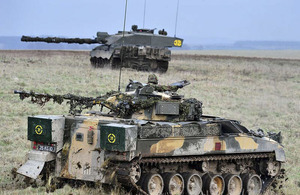 A full-scale attack by Challenger 2 tanks was the mainstay of the Combined Arms Demonstration Day at Copehill Down