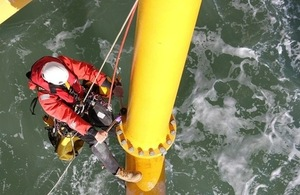 CWind inspecting offshore installation (c) CWind