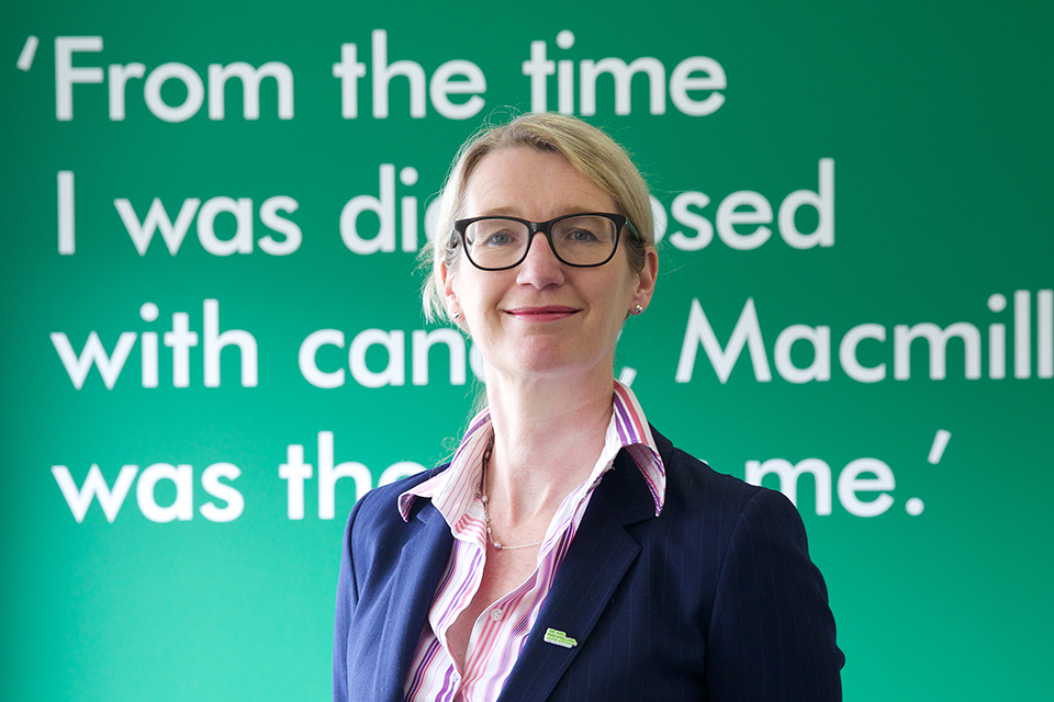 Lynda Thomas, Chief Executive of Macmillan Cancer Support