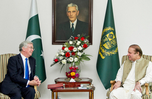 UK's Secretary of State for Defence visits Pakistan