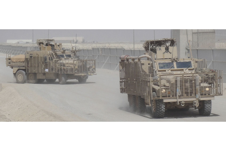 Mastiff vehicles at Camp Bastion
