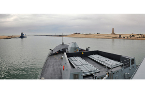 HMS Daring ipassing through the Suez Canal on the 30th January 2012