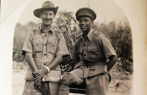 Mordaunt Cohen in Burma with a member of his unit