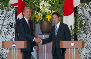 Foreign Secretary visit boosts UK's Strategic Partnership with Japan