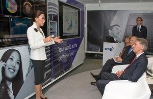 Foreign Secretary visits BT Japan