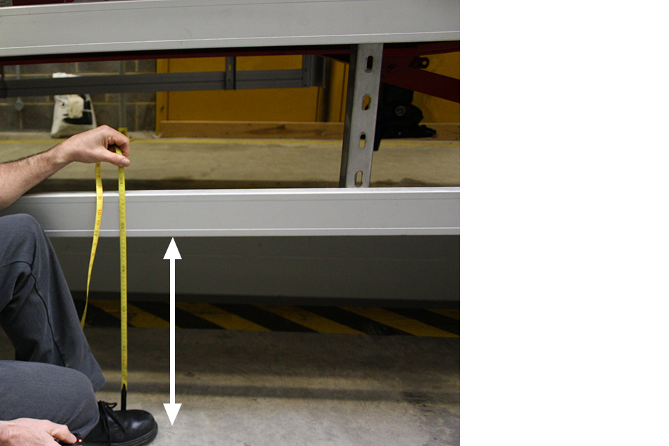 DVSA measure the height from the floor to the lowest rail.