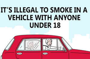 It's illegal to smoke in a vehicle with anyone under 18