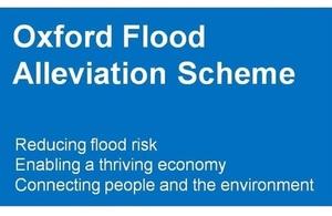 Oxford flood alleviation scheme banner.