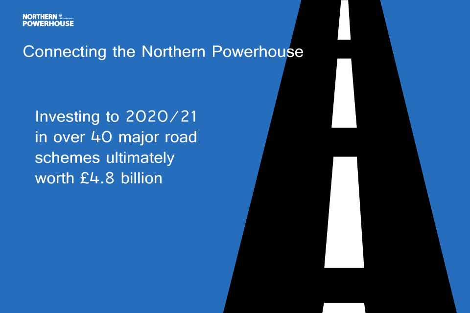 Northern Powerhouse transport infographic: road investment