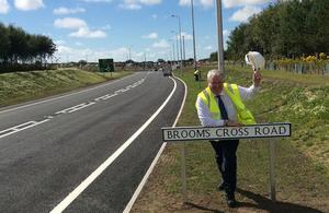 Transport Secretary visits new Broom's Cross Road in Sefton.