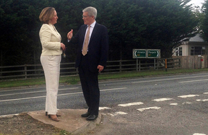 Andrew Jones MP and Anne-Marie Trevelyan MP visit the A1 between Morpeth and Ellingham.
