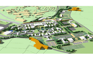 An artist's impression of the new tri-Service Defence Training campus at St Athan