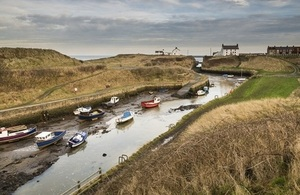 Seaton Sluice inner harbour