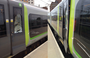 Images of damaged train courtesy of Network Rail