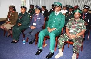 Graduating SADC Security Forces