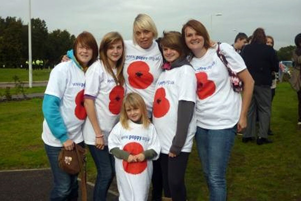 Women whose husbands and fathers are currently serving in Afghanistan at the 2010 Poppy Appeal launch