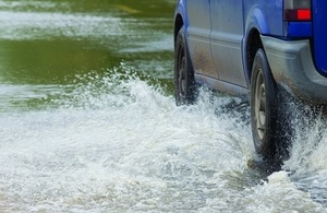 The public are urged not to drive through flood water.