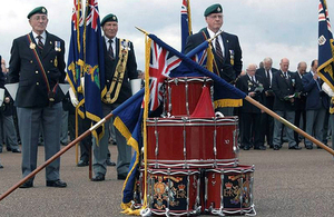 A drumhead service in 2010