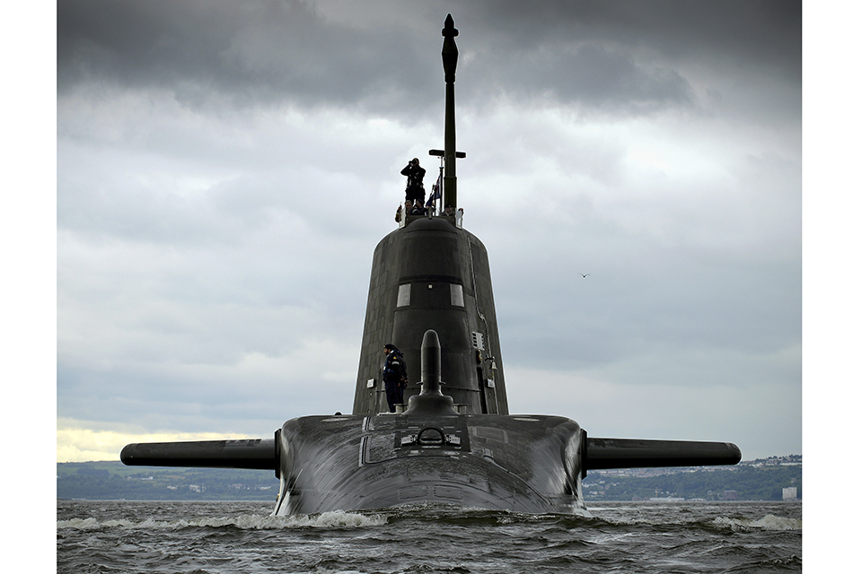 HMS Artful, the third of the Royal Navy's new Astute Class attack submarines has arrived at her Scottish base port from where she will carry out sea trials before entering service later this year.