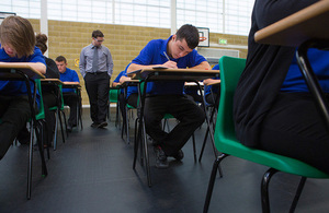 Students sitting an exam