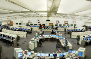 The National Air Traffic Services control centre at Swanwick