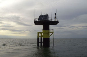 A new tidal gauge in The Wash completes a national network and will help improve flood forecasting