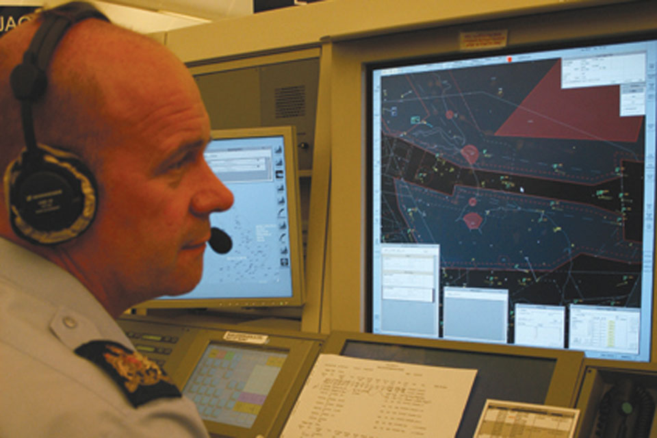 One of Swanwick's air traffic controllers