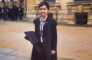 Chevening alumni Dang Nguyen has just returned from UK after a year at Oxford University.