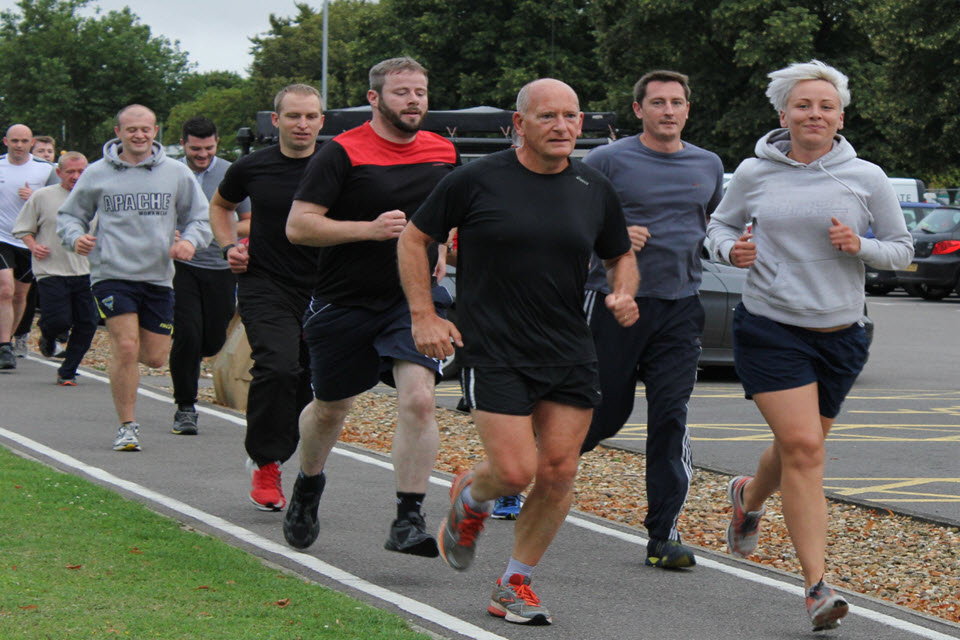 DCC Chesterman leads the pack in the early part of the challenge