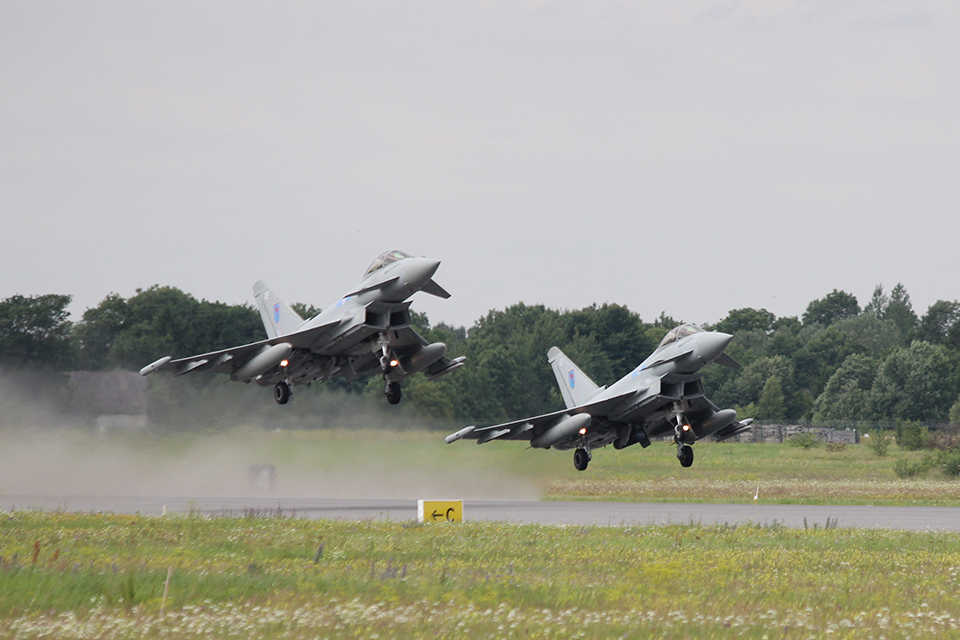 The Typhoons will shortly return to their base in the UK