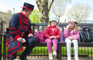 Yeoman Warder Rob Fuller is enjoying interacting with the public and providing them with information
