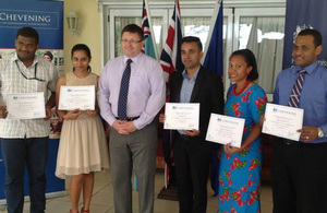 High Commissioner Roderick Drummond with Chevening Scholars