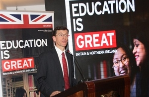 British High Commissioner speaking at the event