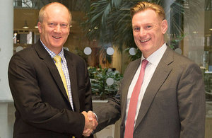 John Clarke, the NDA's CEO, with Tom Samson, NuGen's CEO