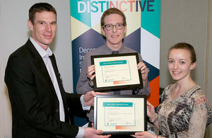 Winners at DISTINCTIVE consortium conference