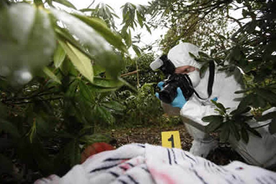 Army crime scene investigators are among the best-trained of their kind in Britain [Picture: Graeme Main, Crown Copyright/MOD 2010]
