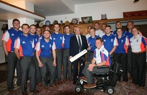 British High Commissioner to Bangladesh welcomes the England Disability Cricket Team