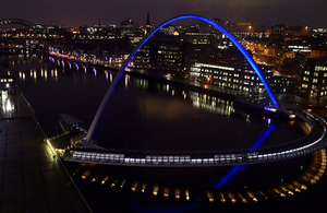 Looking down the Tyne from Gateshead in Newcastle - PA Image