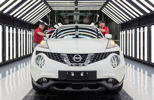 Production of the Nissan Juke at the Nissan plant in Sunderland