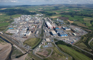 Sellafield site aerial view