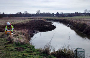 Working on the river restoration project at Bocking