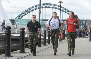 Soldiers from 72 Engineer Regiment (Volunteers) set off on their 23-day fundraising event